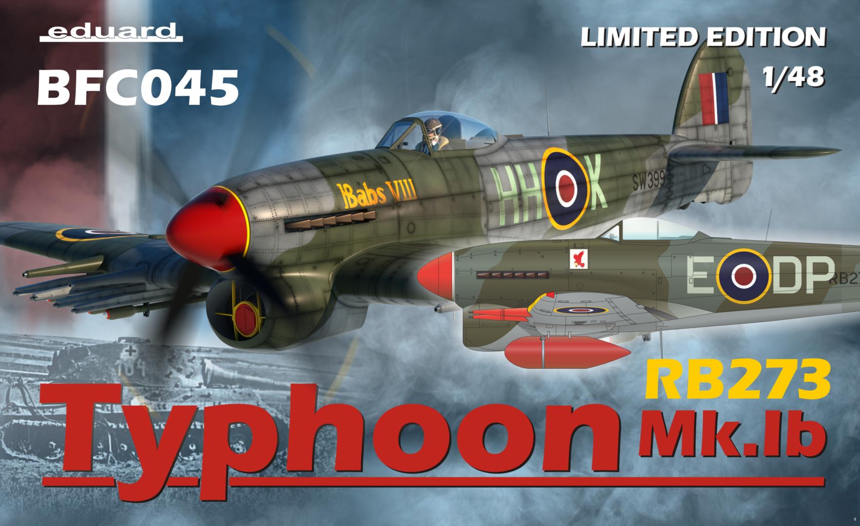 Eduard Zoom FE1028 1//48 Hawker Typhoon Mk.Ib Bubbletop Hasegawa