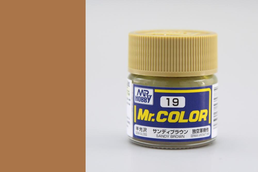 Barva Mr. Color akrylová č. 019 – Sandy Brown (10 ml)