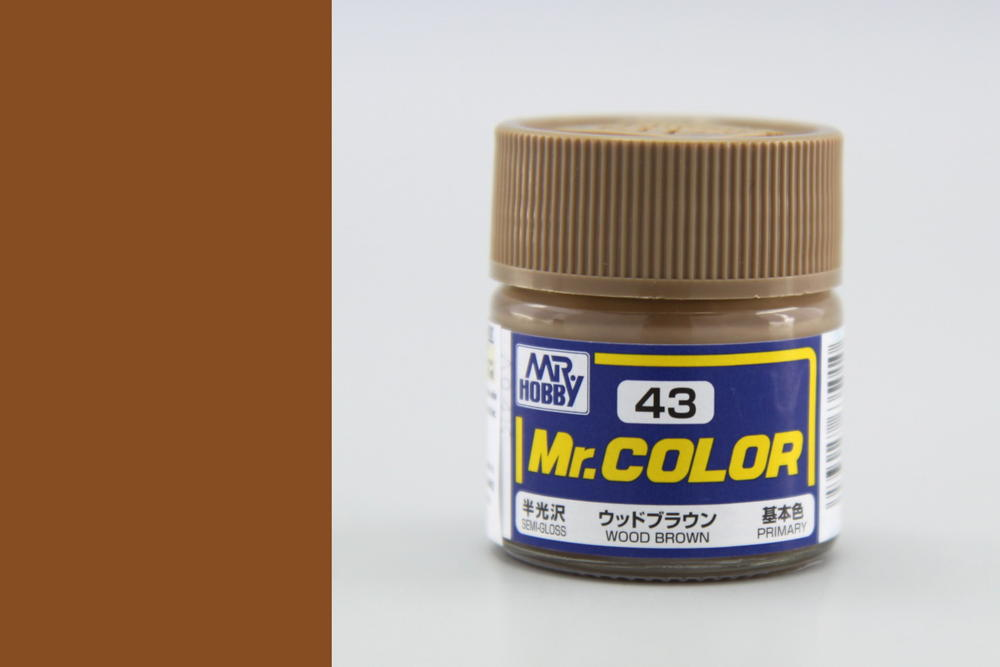 Barva Mr. Color akrylová č. 043 – Wood Brown (10 ml)