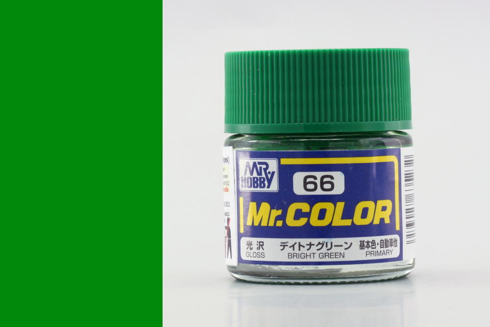 Barva Mr. Color akrylová č. 066 – Bright Green (10 ml)