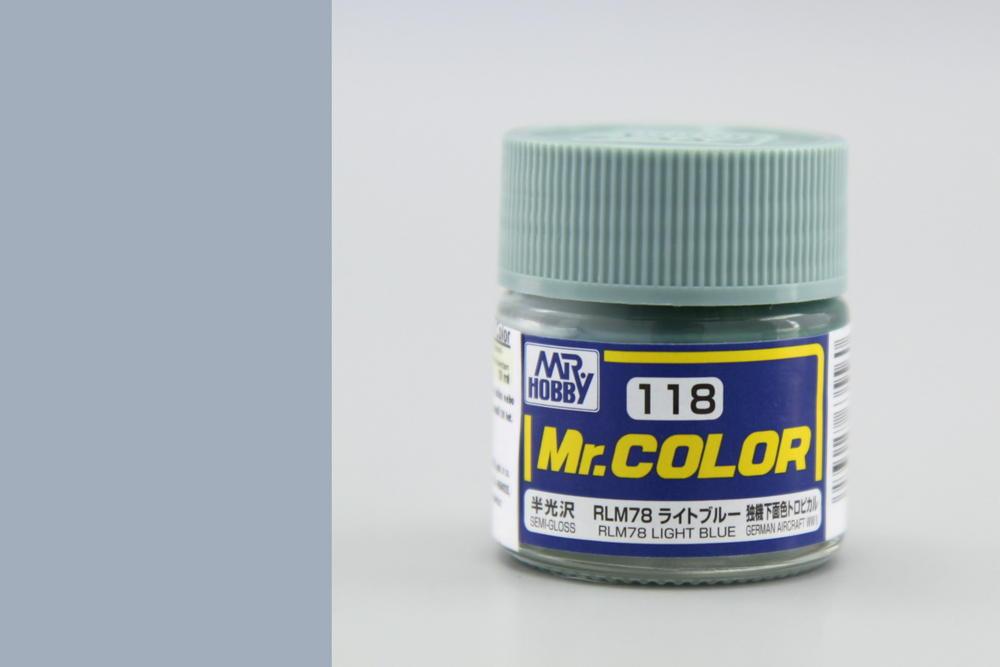 Barva Mr. Color akrylová č. 118 – RLM78 Light Blue (10 ml)
