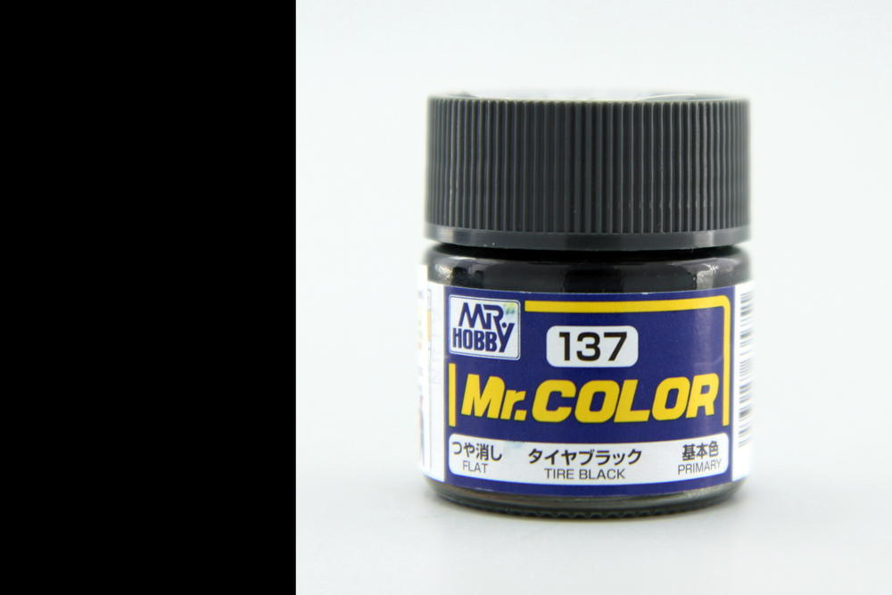 Barva Mr. Color akrylová č. 137 – Tire Black (10 ml)