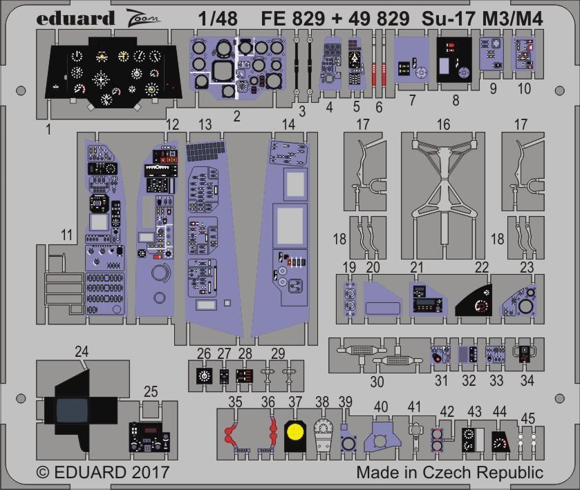 Eduard Eduaex551 Su-17 M3//M4 1//48