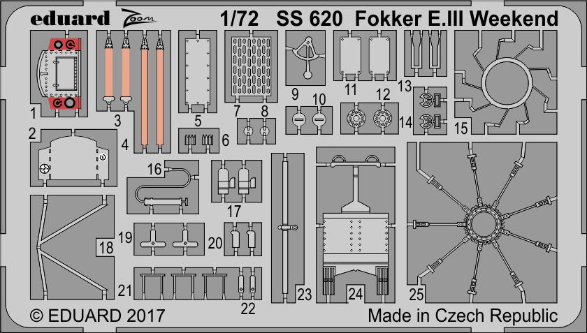 Eduard 1//72 Model Kit 7444 Fokker E.III Weekend Edition
