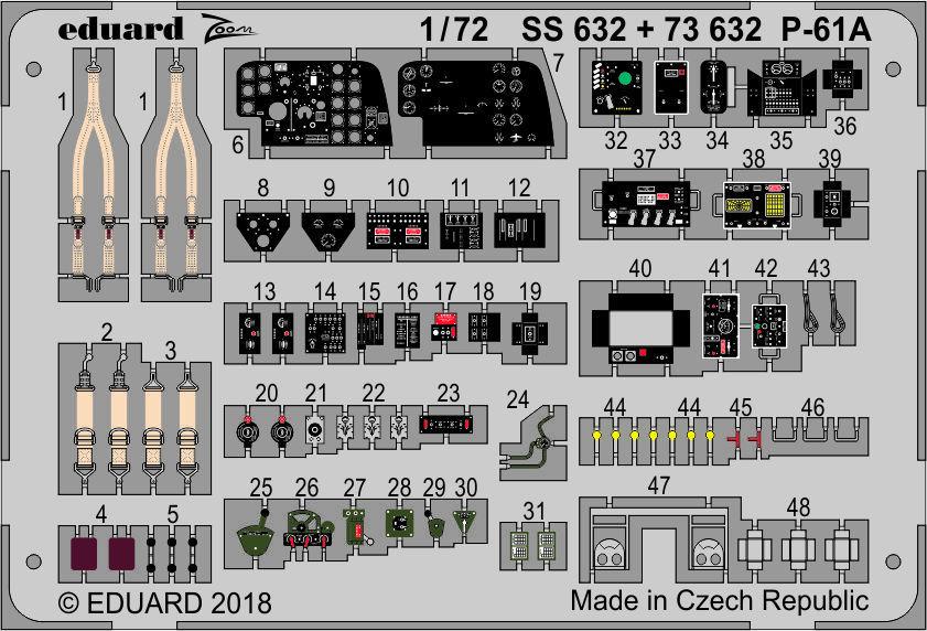 EDUARD BRASSIN 672131 Engines for Airfix® Kit B-17G in 1:72