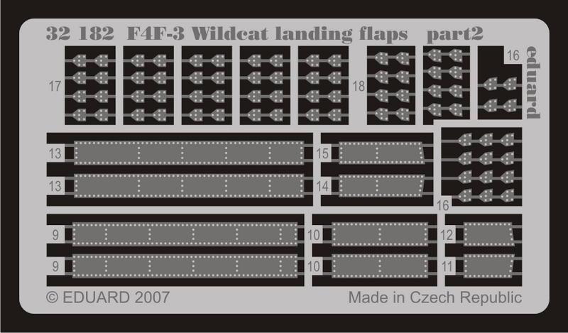 EDUARD 32 182 1//32 F4F-3 Wildcat landing flaps TRUMPETER