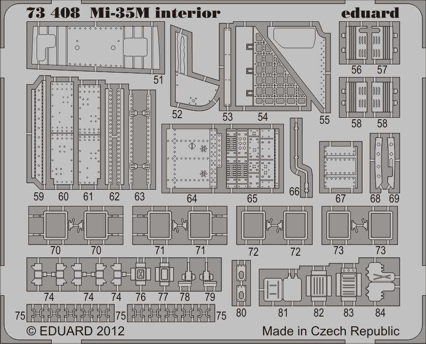 for Zvezda Kit Mi-35 in 1:72 EDUARD 73408 Interior S.A